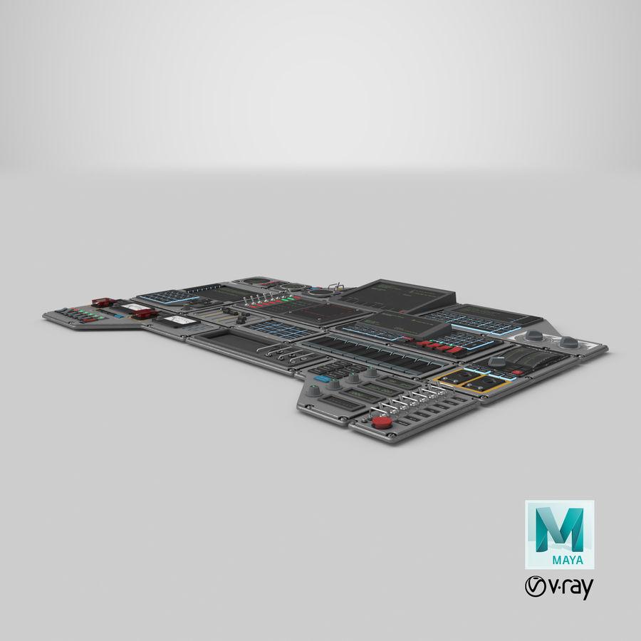 Kontrollpanel för rymdskepp royalty-free 3d model - Preview no. 26