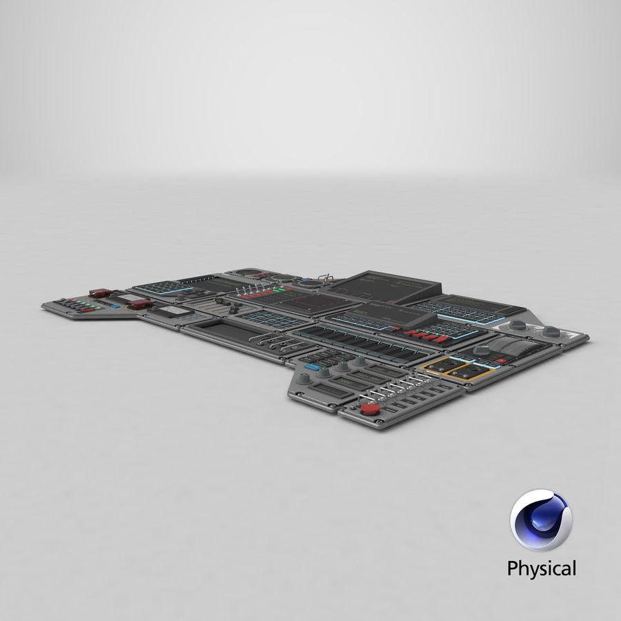 Kontrollpanel för rymdskepp royalty-free 3d model - Preview no. 17