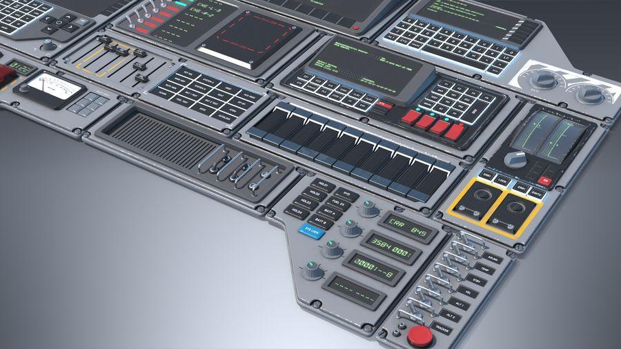 Kontrollpanel för rymdskepp royalty-free 3d model - Preview no. 4