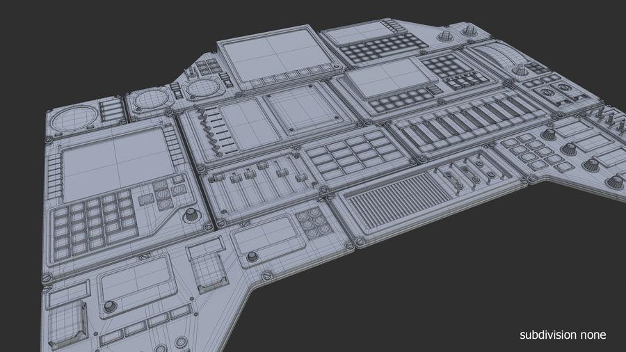 Kontrollpanel för rymdskepp royalty-free 3d model - Preview no. 12