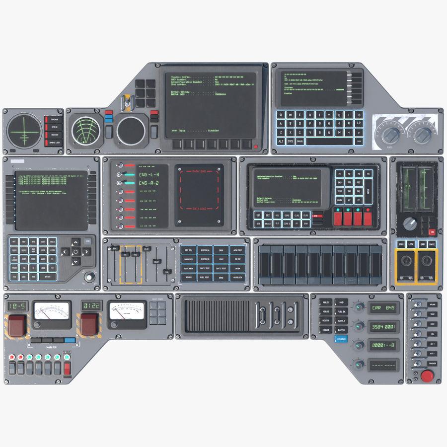 Kontrollpanel för rymdskepp royalty-free 3d model - Preview no. 1