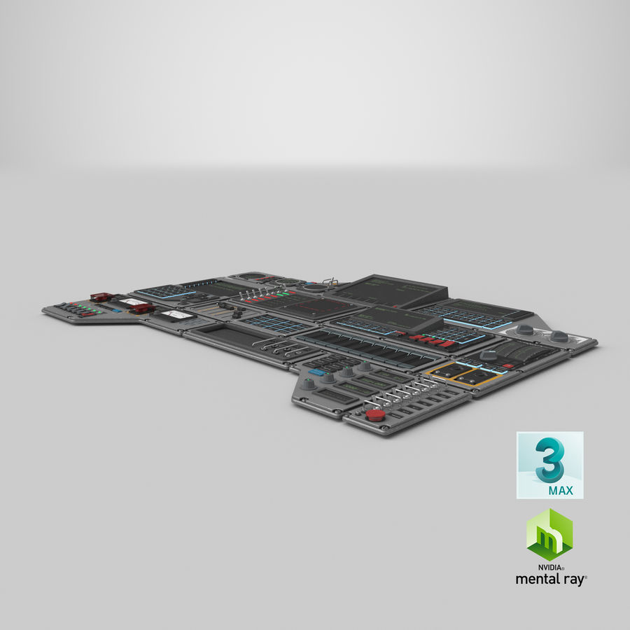 Kontrollpanel för rymdskepp royalty-free 3d model - Preview no. 22