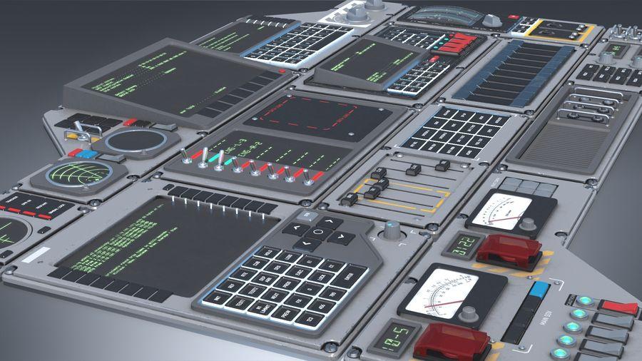 Kontrollpanel för rymdskepp royalty-free 3d model - Preview no. 5