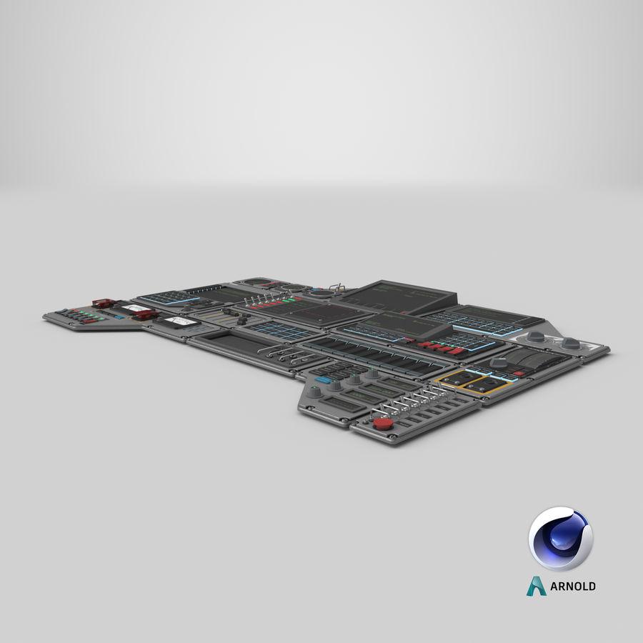 Kontrollpanel för rymdskepp royalty-free 3d model - Preview no. 18