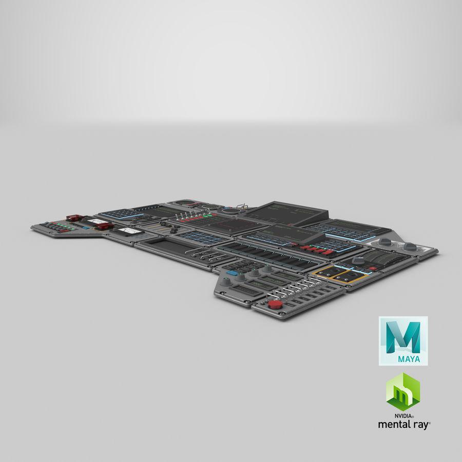 Kontrollpanel för rymdskepp royalty-free 3d model - Preview no. 25