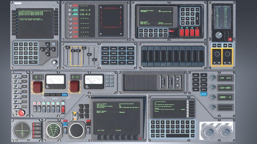 Kontrollpanel för rymdskepp royalty-free 3d model - Preview no. 8