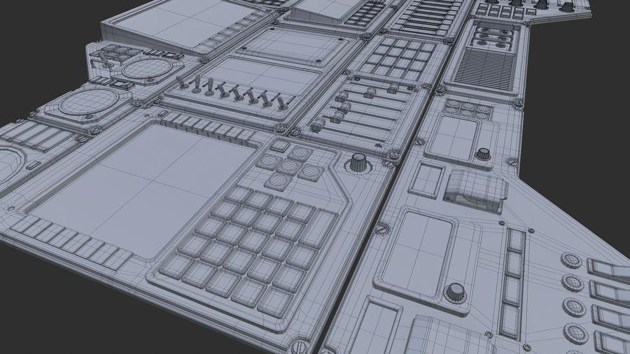 Kontrollpanel för rymdskepp royalty-free 3d model - Preview no. 11