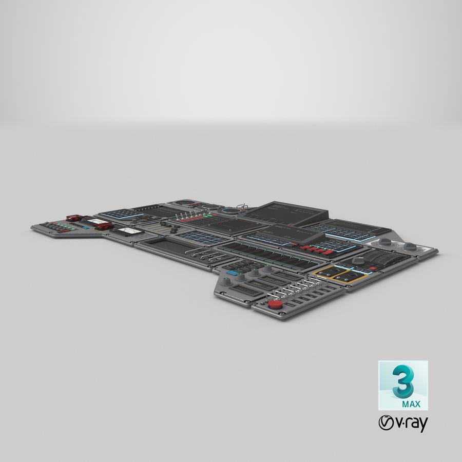 Kontrollpanel för rymdskepp royalty-free 3d model - Preview no. 23