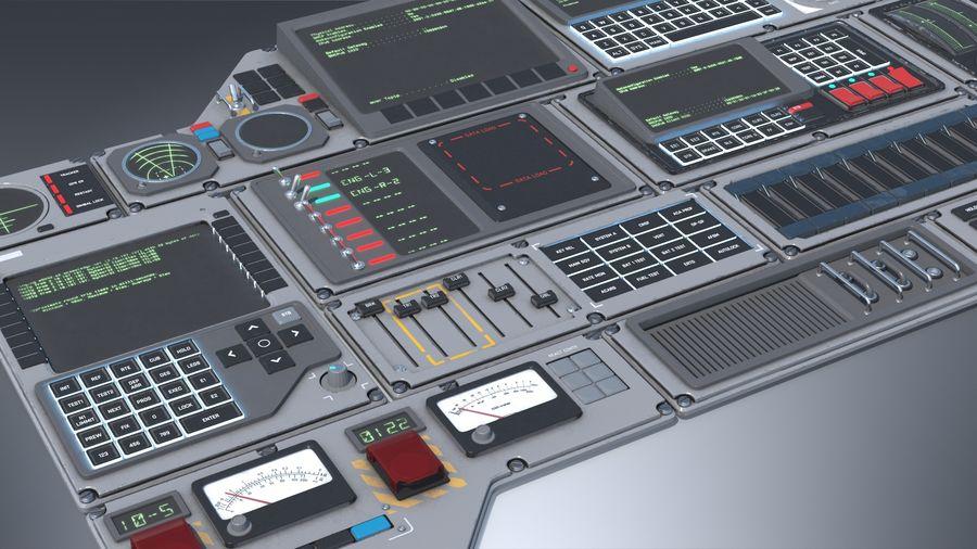 Kontrollpanel för rymdskepp royalty-free 3d model - Preview no. 3