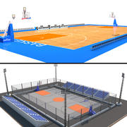 Basketball Court Collection 3d model