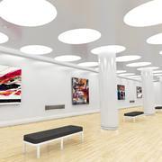 Museum White 3d model