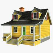 Casa di legno 3d model