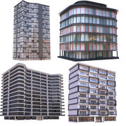 Modern Apartment Buildings Collection B 3d model
