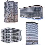 现代公寓建筑系列D 3d model