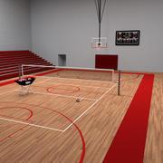Quadra de basquete / vôlei 3d model