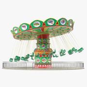 Carnival Swing Ride 3d model