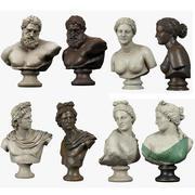 Collezione di busti classici 3d model