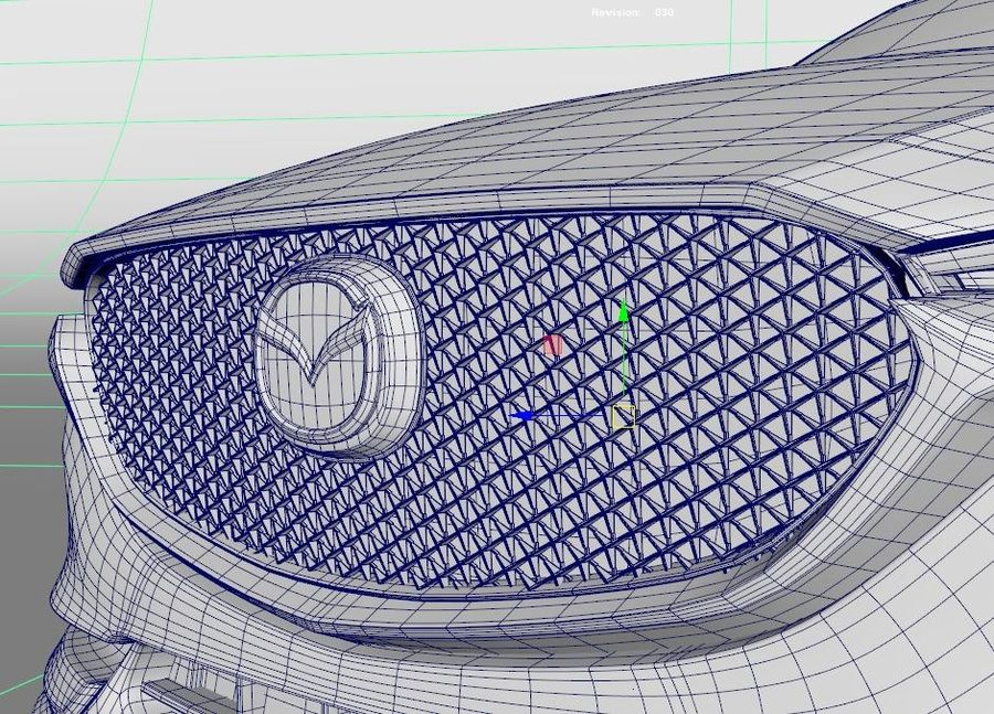 Mazda CX 5 royalty-free 3d model - Preview no. 9