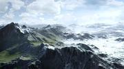 山夏季和冬季,两种纹理 3d model