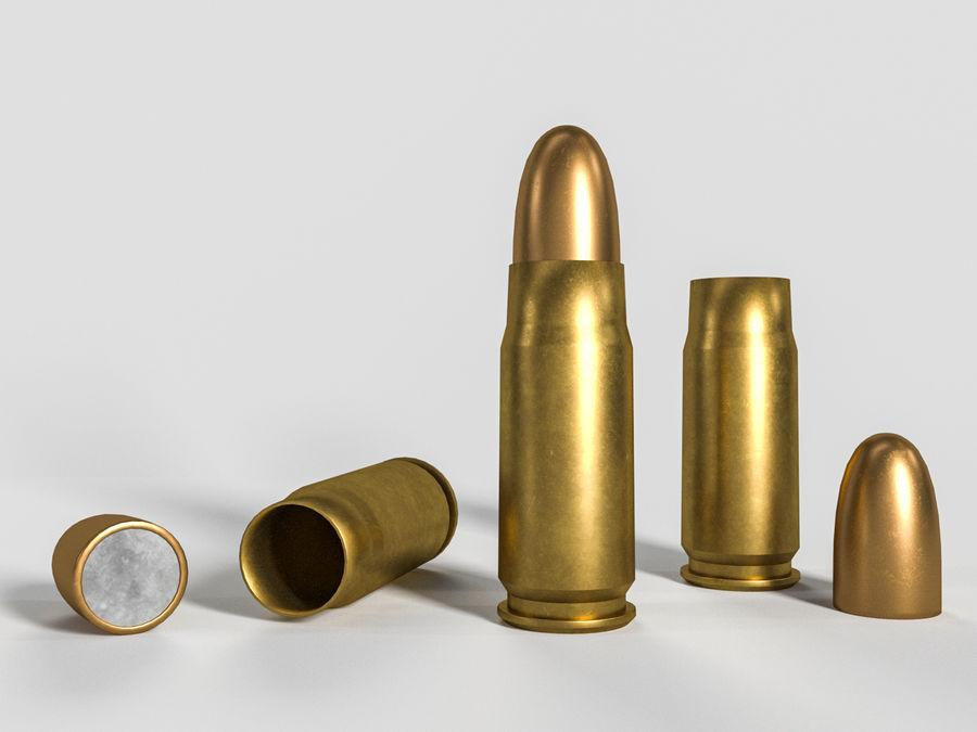 Cartuccia pistola sovietica o russa royalty-free 3d model - Preview no. 2