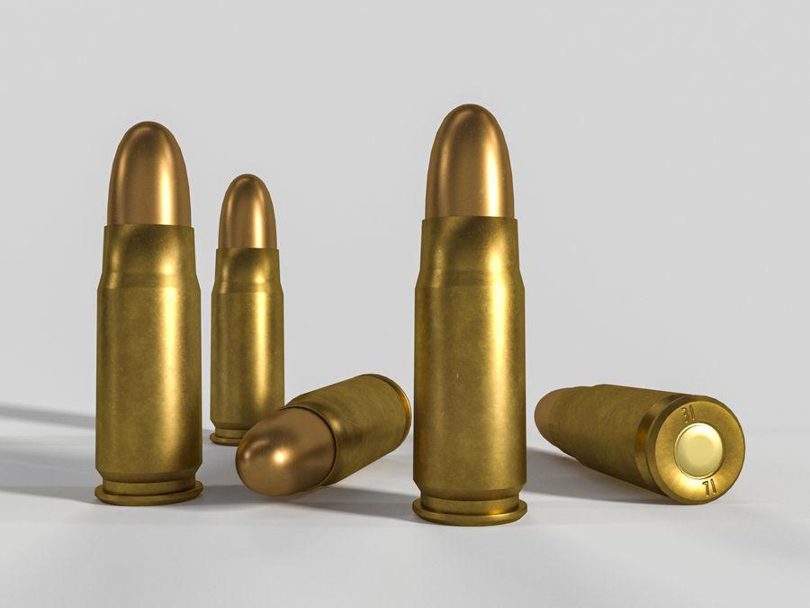 Cartuccia pistola sovietica o russa royalty-free 3d model - Preview no. 1