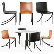 Krzesła i stół Aceron Jot 3d model