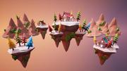 Isole galleggianti 3d model