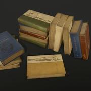 오래된 책-PBR 게임 준비 3d model