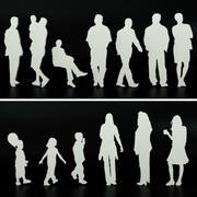 Ludzie dla świty i personelu 3d model