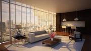 Interieur Lounge 3d model