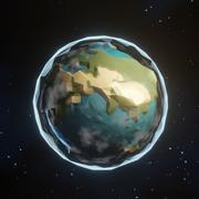 様式化された低ポリ地球 3d model