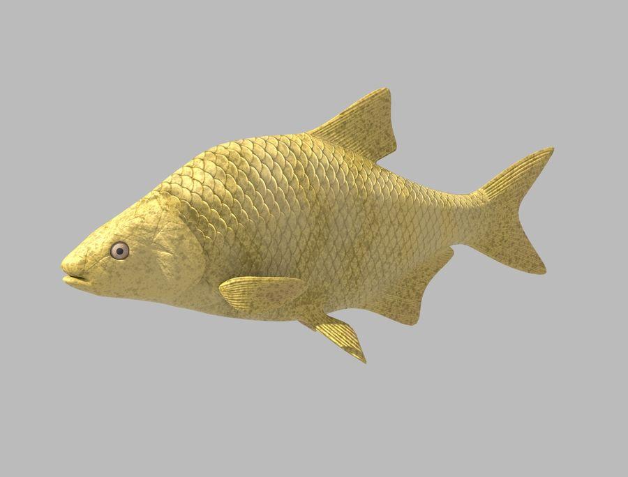 金の魚のアニメーション royalty-free 3d model - Preview no. 1