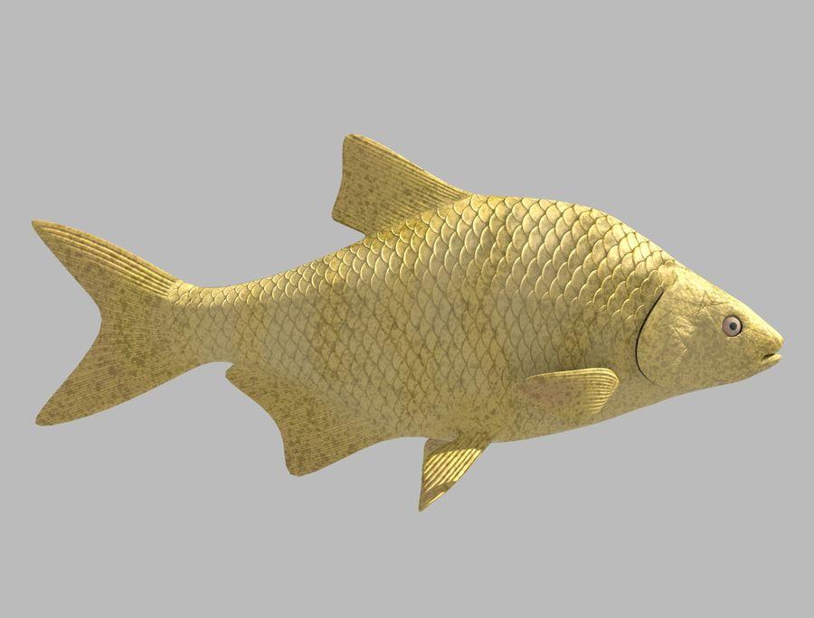 金の魚のアニメーション royalty-free 3d model - Preview no. 3