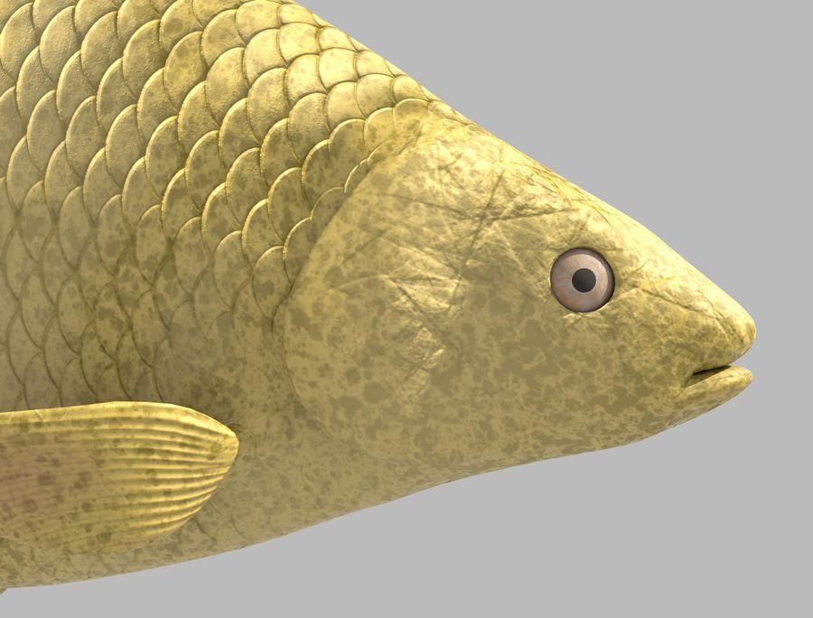 金の魚のアニメーション royalty-free 3d model - Preview no. 6