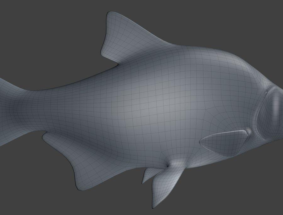 金の魚のアニメーション royalty-free 3d model - Preview no. 18