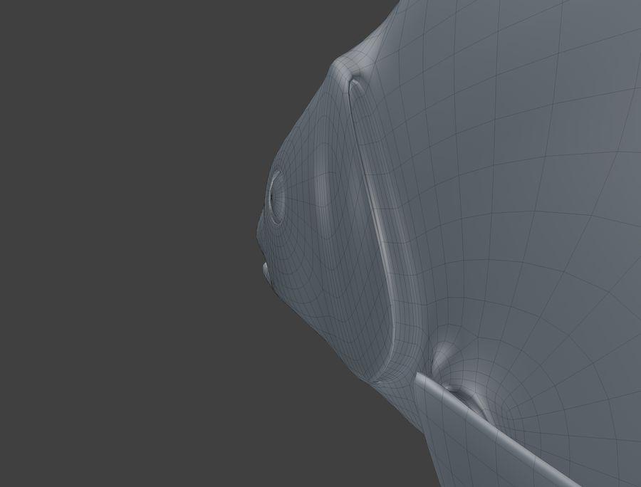 金の魚のアニメーション royalty-free 3d model - Preview no. 11
