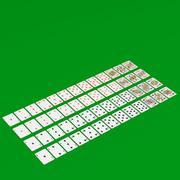Mazzo di carte da gioco francese 3d model