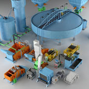 Industrial Coal Preparation Plant 3d model