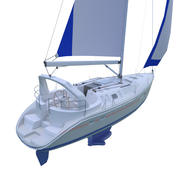 Hunter 410 Yacht (Highpole) 3d model