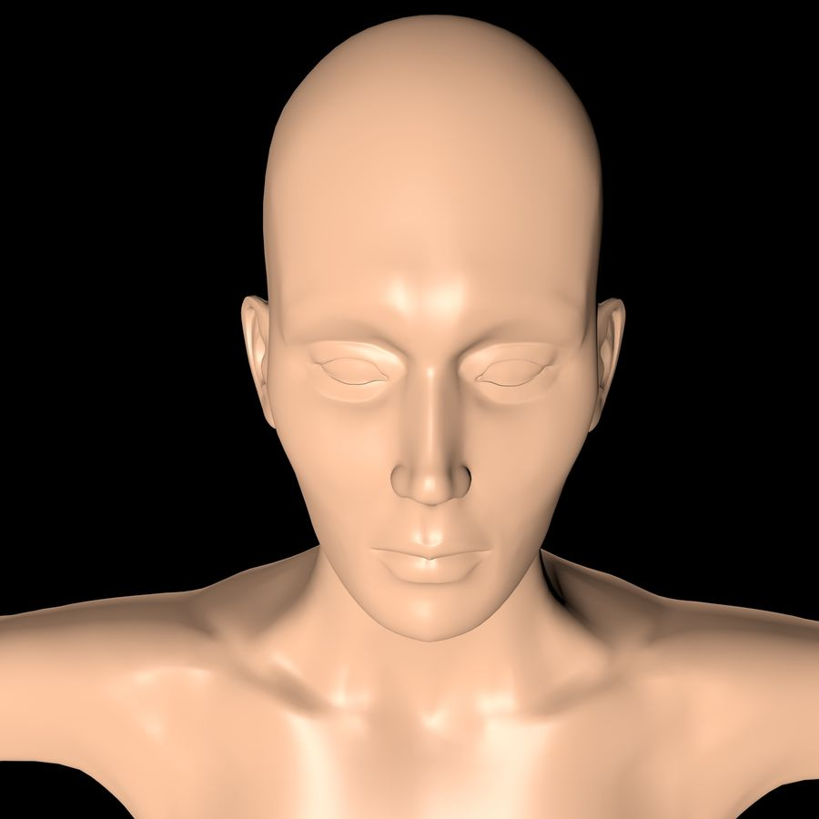Женское тело royalty-free 3d model - Preview no. 1