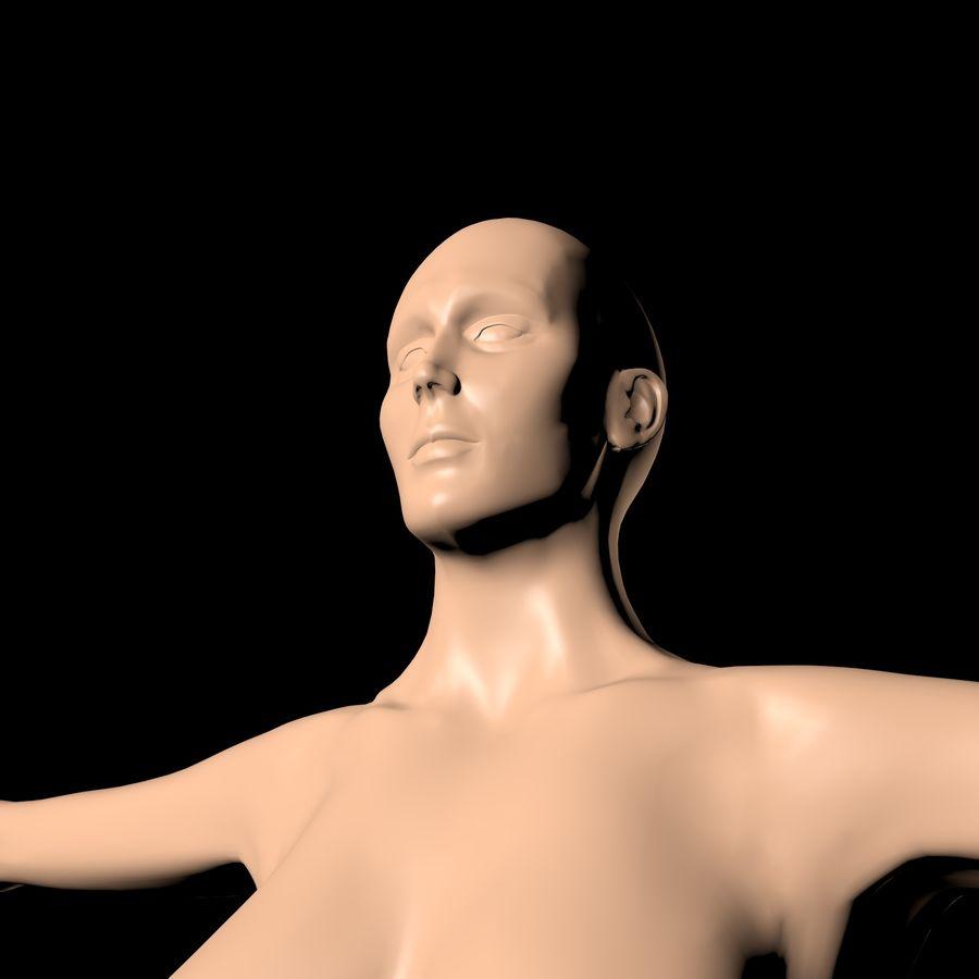 Женское тело royalty-free 3d model - Preview no. 3