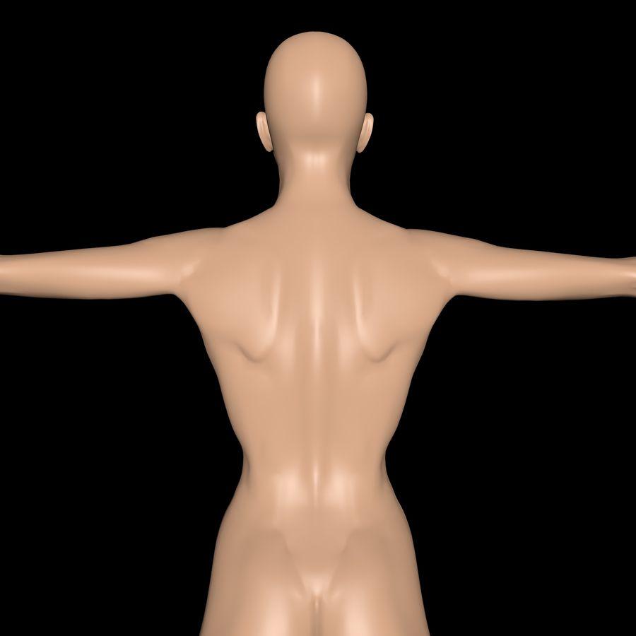 Corps de femme royalty-free 3d model - Preview no. 4