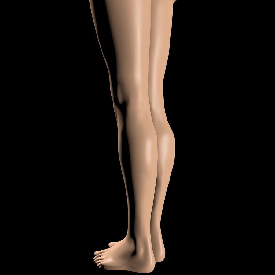 Женское тело royalty-free 3d model - Preview no. 5