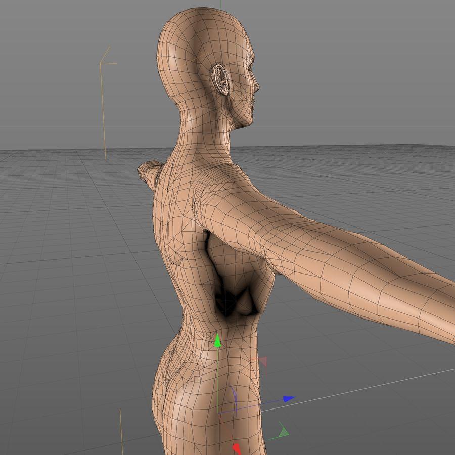 Женское тело royalty-free 3d model - Preview no. 7