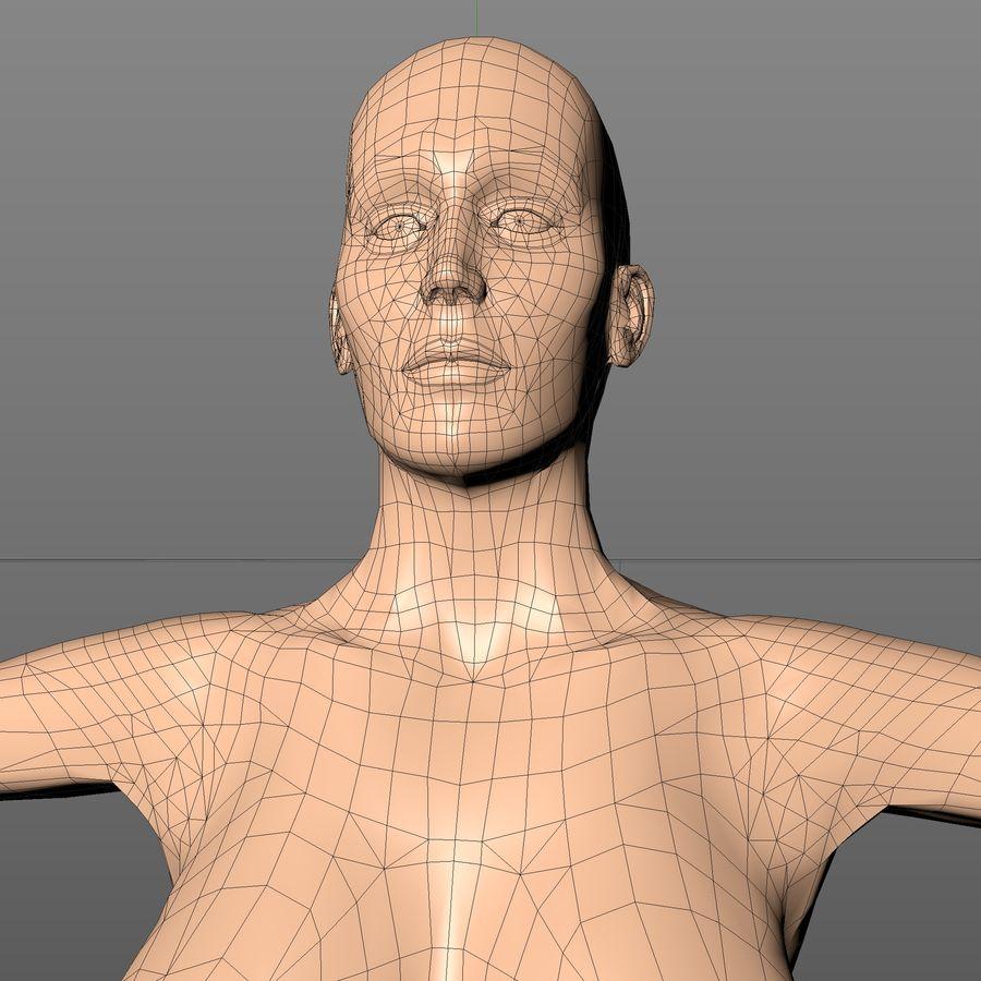 Женское тело royalty-free 3d model - Preview no. 6