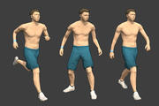 リギングされたLowpoly男性キャラクター-最大 3d model