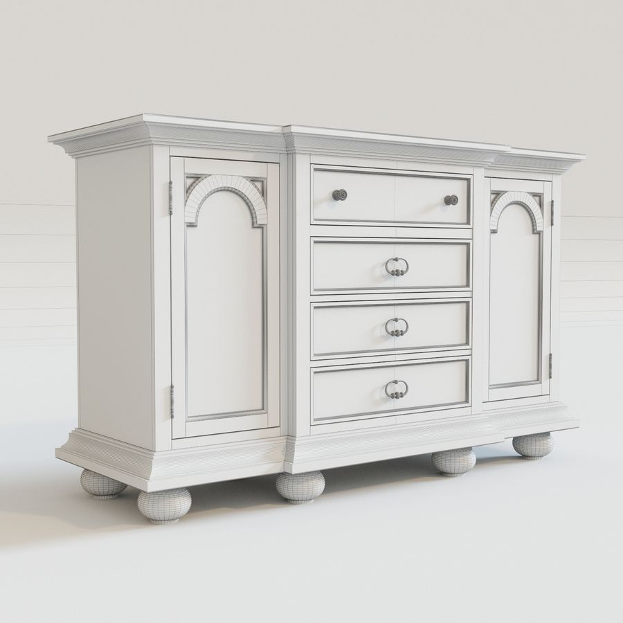 Ollesburg D725-60 royalty-free 3d model - Preview no. 6