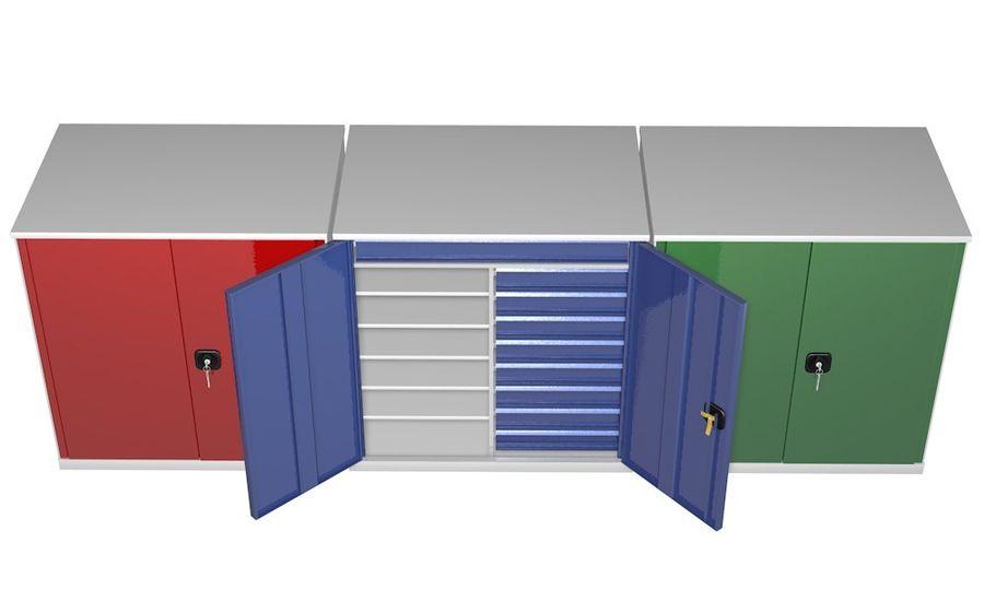 Kast 3 kleuren royalty-free 3d model - Preview no. 6