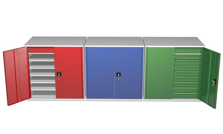 Kast 3 kleuren royalty-free 3d model - Preview no. 4