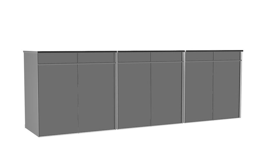 Kast 3 kleuren royalty-free 3d model - Preview no. 7